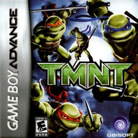 The cover art of the game TMNT .