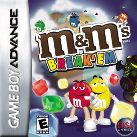 The cover art of the game M&M's Break 'Em.