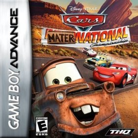 The cover art of the game Cars Mater-National Championship .