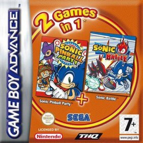 The cover art of the game 2 in 1 - Sonic Pinball Party & Sonic Battle .
