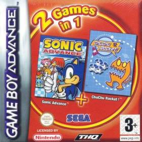 The cover art of the game 2 in 1 - Sonic Battle & ChuChu Rocket!.