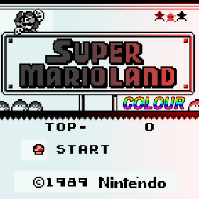 The cover art of the game Super Mario Land Colour.