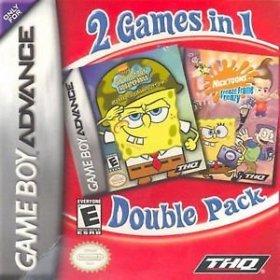The cover art of the game 2 in 1 - SpongeBob Squarepants Battle for Bikini Bottom & Nicktoons Freeze Frame Frenzy .