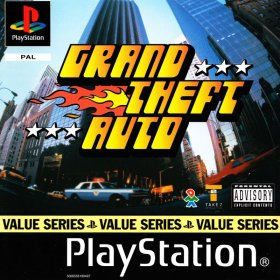 The cover art of the game Grand Theft Auto.