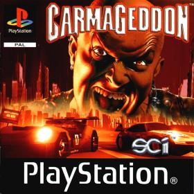 The cover art of the game Carmageddon.