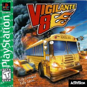 The cover art of the game Vigilante 8 [Greatest Hits].