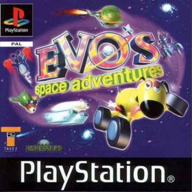 The cover art of the game  Evo's Space Adventures.