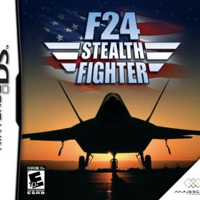 The cover art of the game F-24 Stealth Fighter .