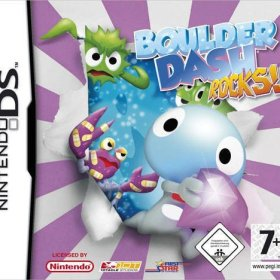 The cover art of the game Boulder Dash: Rocks!.