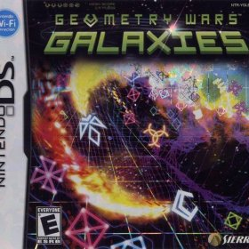 The cover art of the game Geometry Wars - Galaxies.