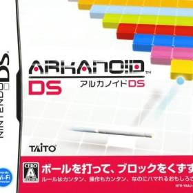 The cover art of the game Arkanoid DS.