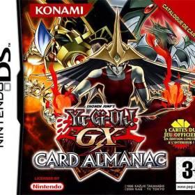The cover art of the game Yu-Gi-Oh! GX Card Almanac.