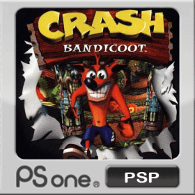 The cover art of the game Crash Bandicoot.