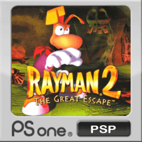 The cover art of the game Rayman 2: The Great Escape.