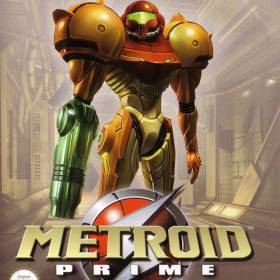 The cover art of the game Metroid Prime.