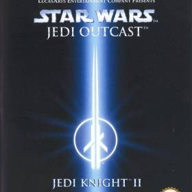 The cover art of the game Star Wars Jedi Knight II: Jedi Outcast.