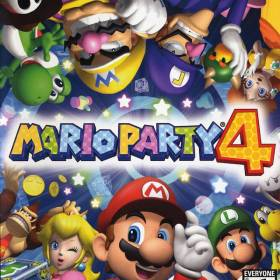 The cover art of the game Mario Party 4.