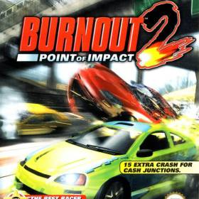 The cover art of the game Burnout 2: Point of Impact.
