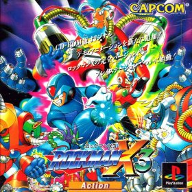 The cover art of the game Rockman X3.
