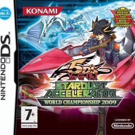 The cover art of the game Yu-Gi-Oh! 5D's: Stardust Accelerator - World Championship 2009.