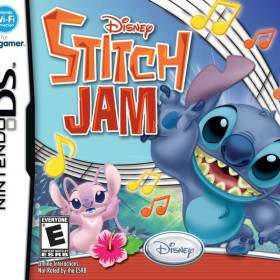 The cover art of the game Disney Stitch Jam .