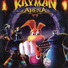 The cover art of the game Rayman Arena.