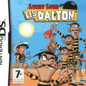 The cover art of the game Lucky Luke: The Daltons.