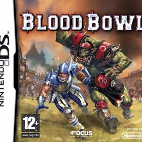 The cover art of the game Blood Bowl .