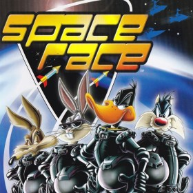 The cover art of the game Looney Tunes: Space Race.