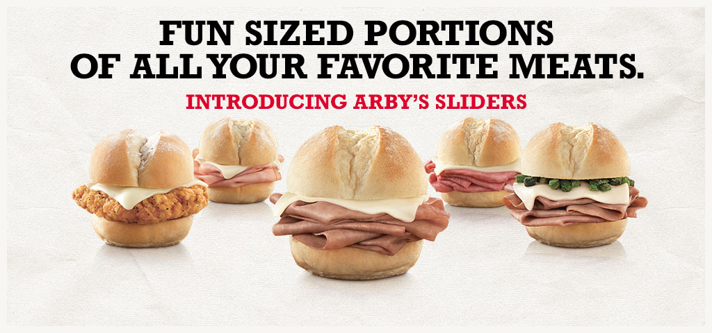 Introducing Arby's Sliders
