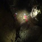 départ de la main courante du puits de la rocade, vue depuis la tête de puits