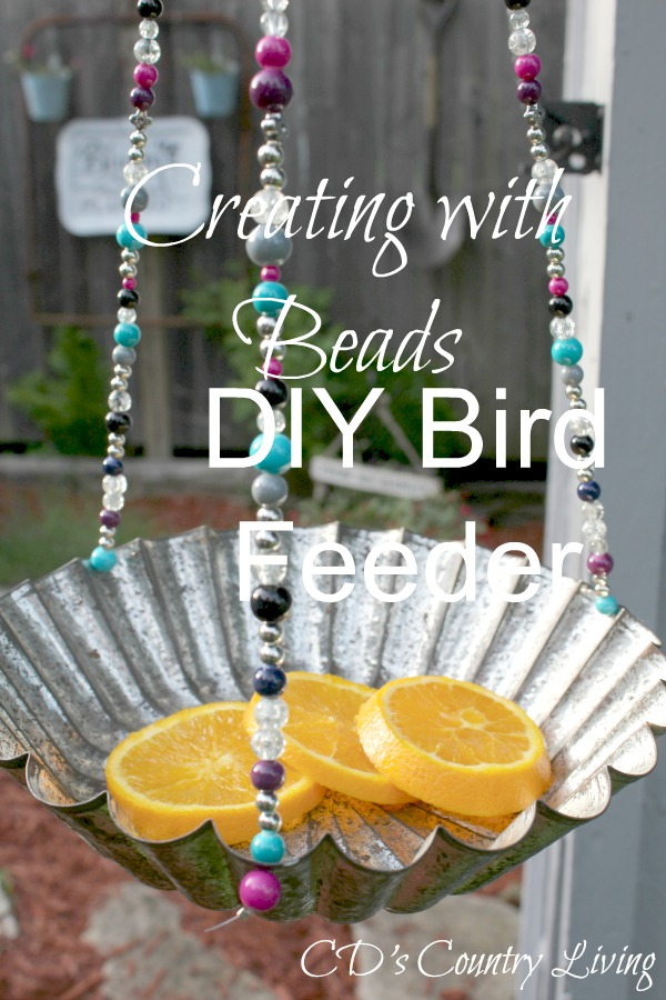 DIY Birdfeeder-Creating with Beads