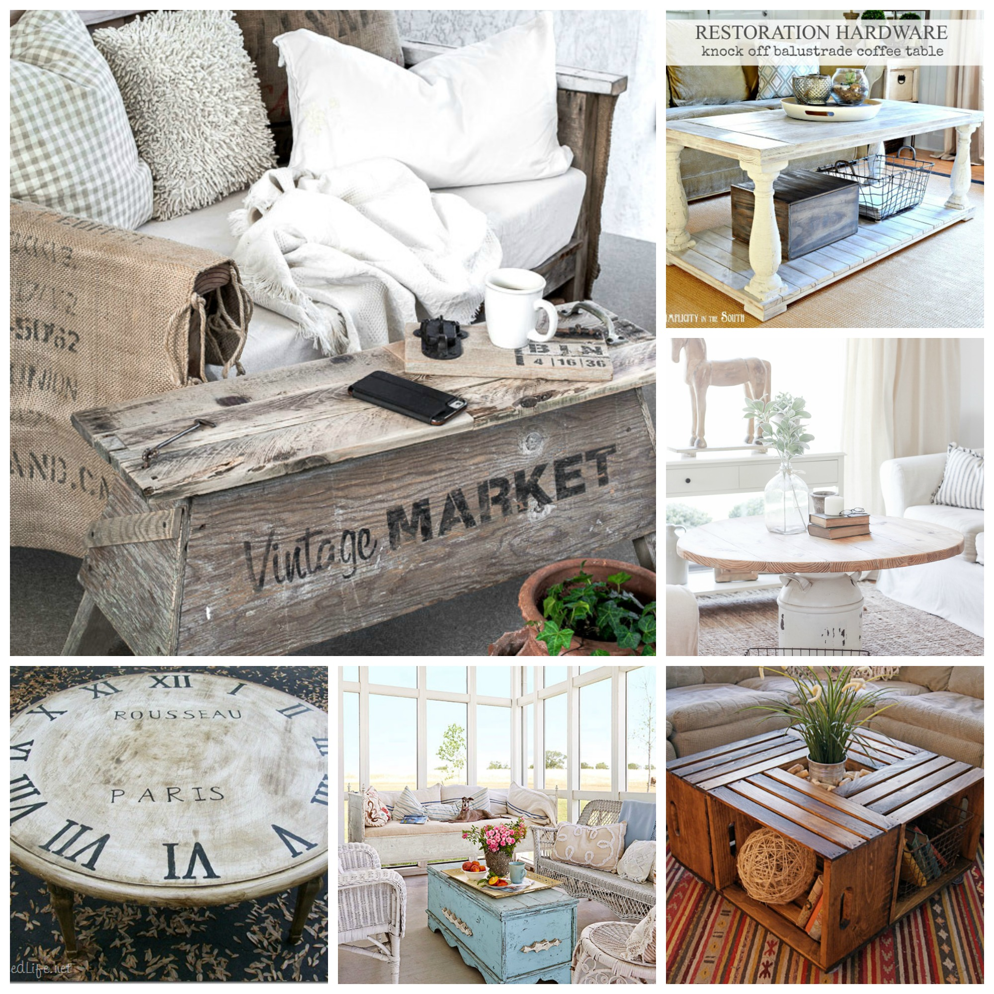 6 creative up cycled coffee tables