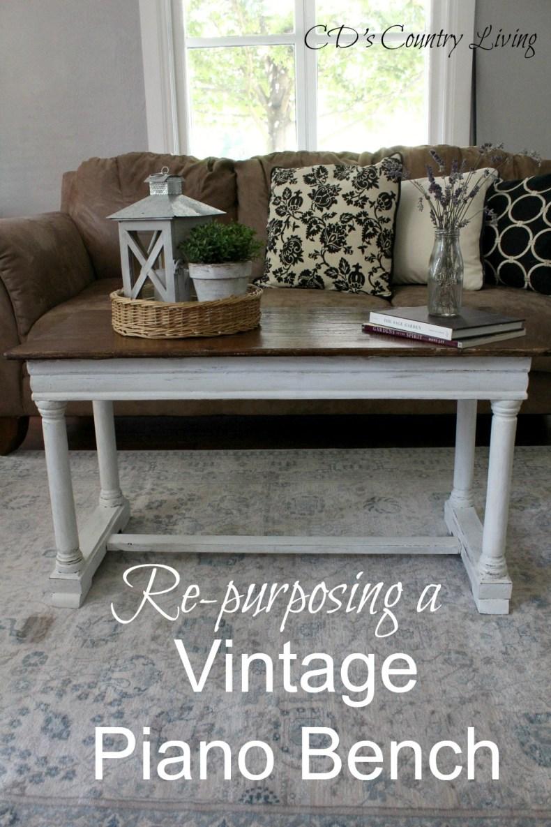 Repurposing a Vintage Piano Bench