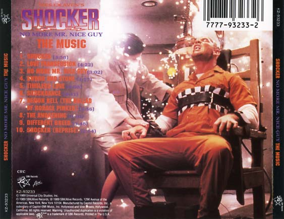Shocker Soundtrack 1989 Cd Sniper Reference Collection