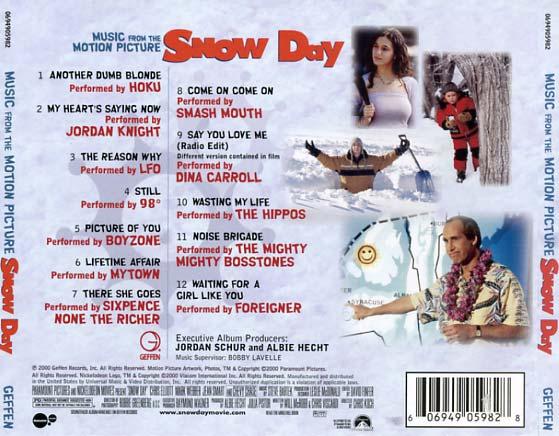 Snow Day Soundtrack 2000 CD Sniper Reference