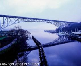 aurora bridge seattle morning