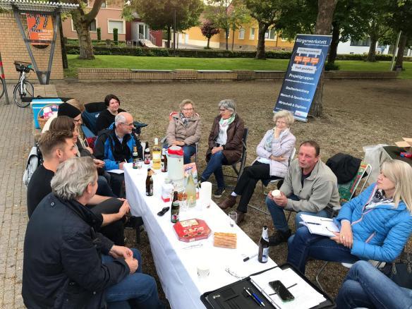 Treffen Stadtentwicklung im Park
