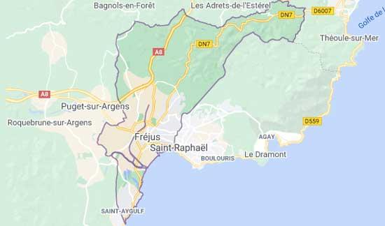 Livraison coursier de CBD à Fréjus et villes voisines