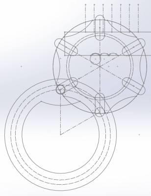 Design Sketch of Geneva Mechanism