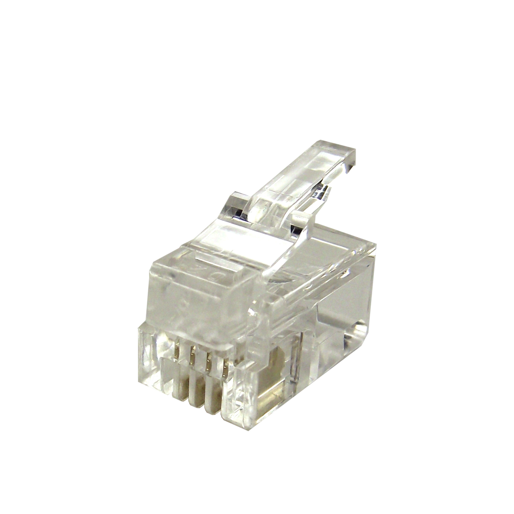 rj22 connector wiring mod plug  rj22 4p4c  for flat cable  gold plated contacts     shaxon  mod plug  rj22 4p4c  for flat cable