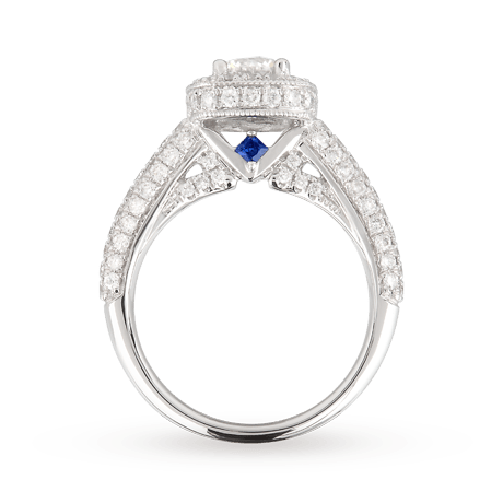Vera Love Brilliant Cut 1 70 Total Carat Weight Solitaire And