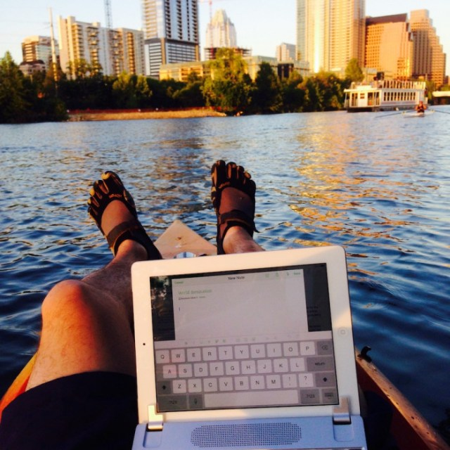 Josh Bolinger on the lake in austin texas