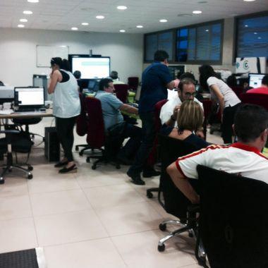 Un momento de los talleres de Wordpress para empresarios a través de CENATIC