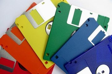 photo of diskettes