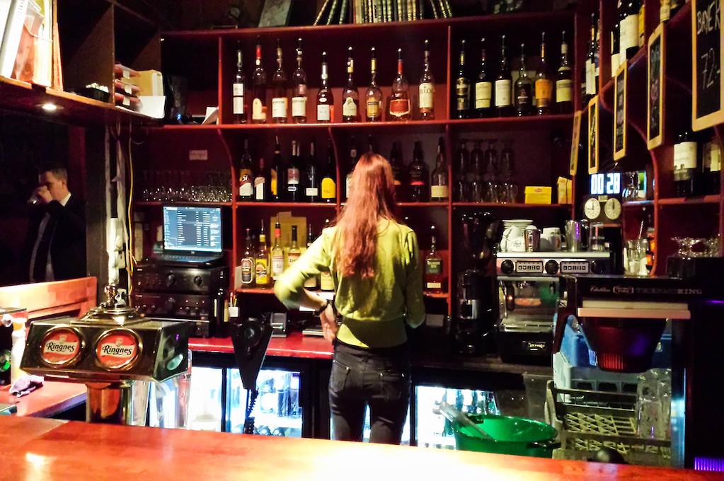 photo of female bartender