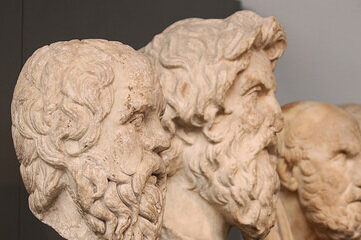 Busts of Greek philosophers