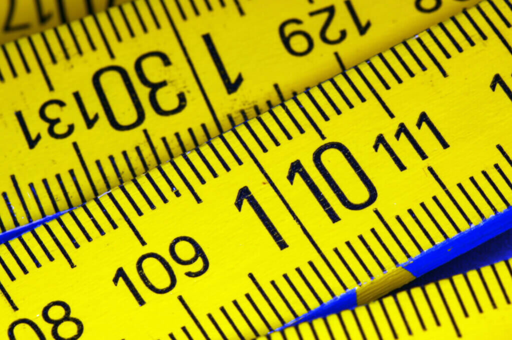 photo of yellow measuring tape