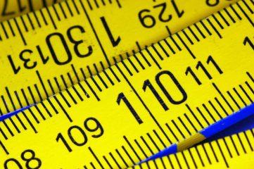 photo of yellow measuring tape