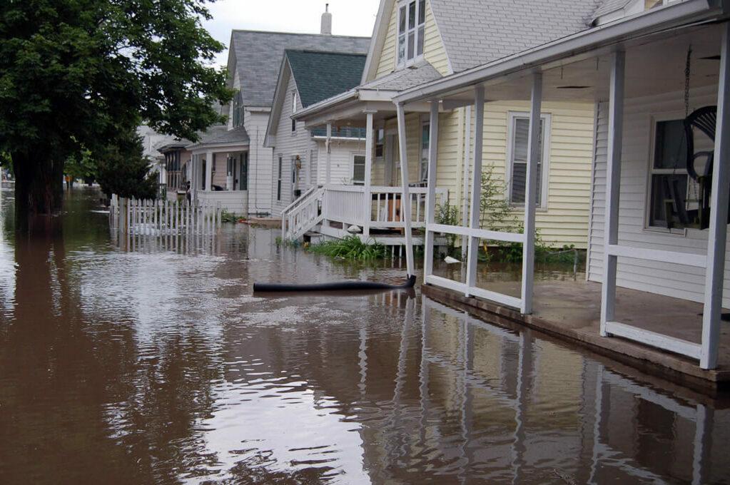 photo of flooded neighborhood